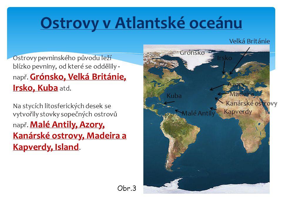 Ostrovy v Atlantské oceánu