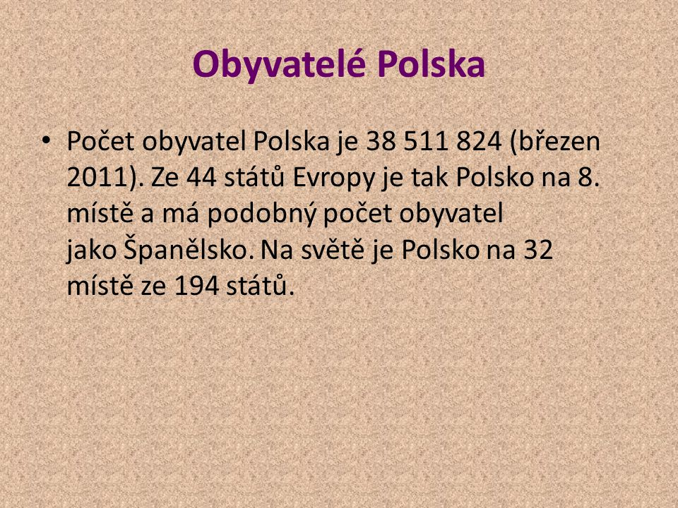 Obyvatelé Polska