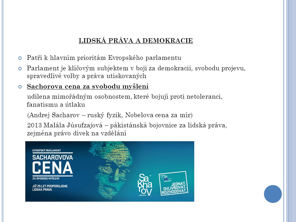 LIDSKÁ PRÁVA A DEMOKRACIE