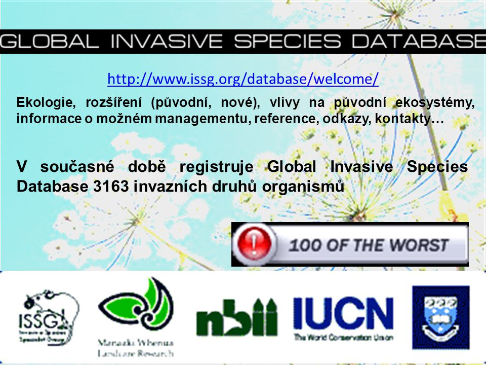 http://www.issg.org/database/welcome/