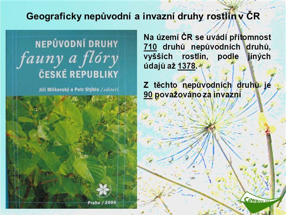 Geograficky nepůvodní a invazní druhy rostlin v ČR