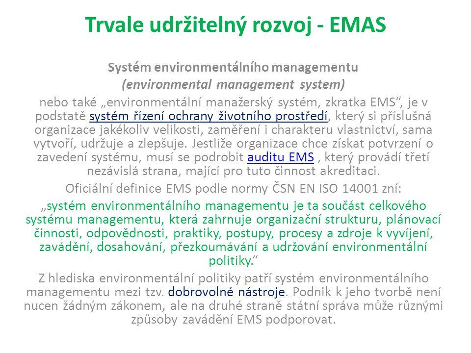 Trvale udržitelný rozvoj - EMAS