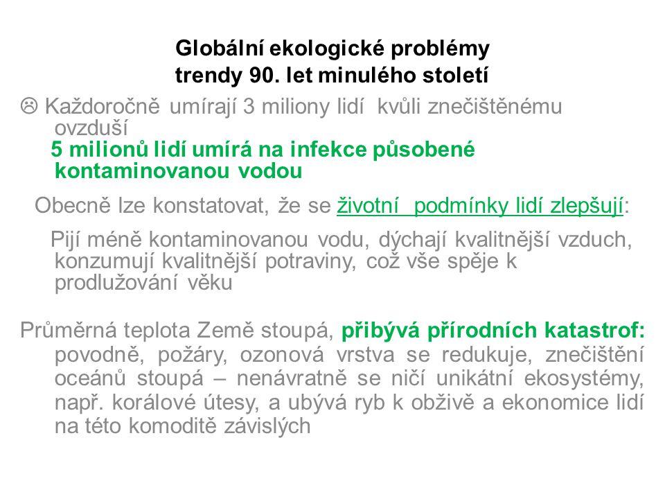 Globální ekologické problémy trendy 90. let minulého století