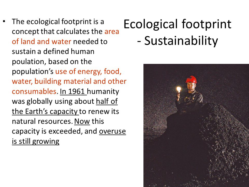 Ecological footprint - Sustainability