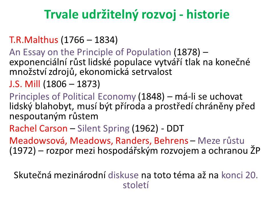 Trvale udržitelný rozvoj - historie