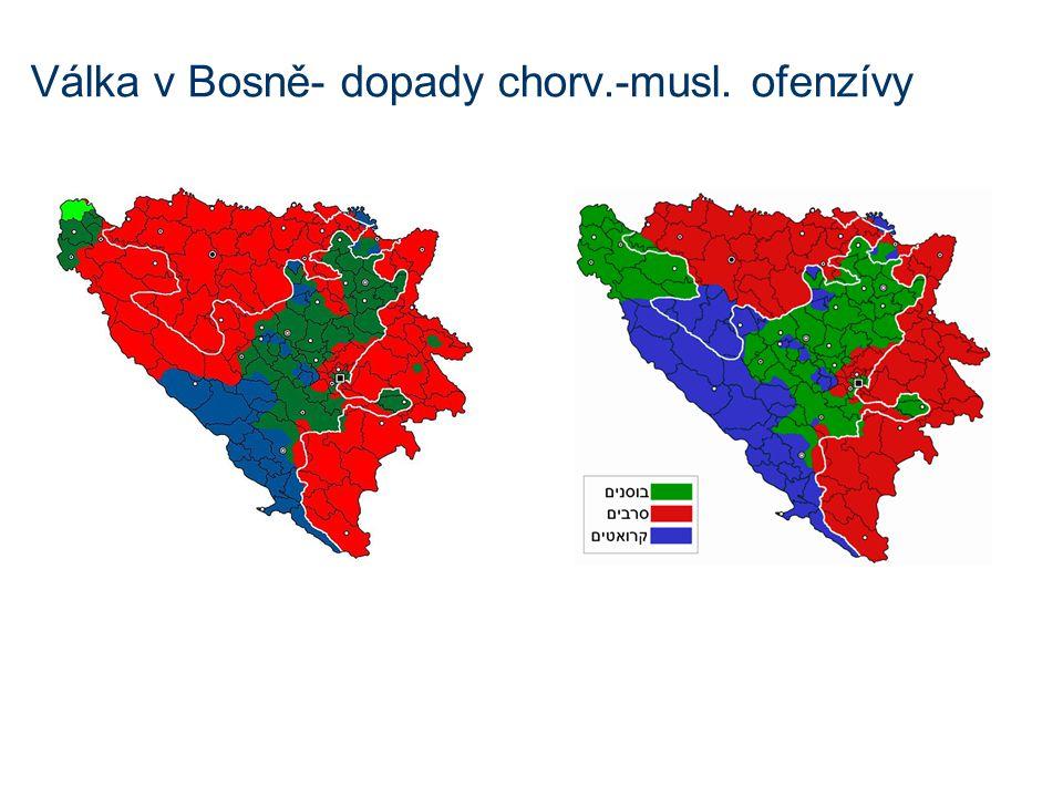 Válka v Bosně- dopady chorv.-musl. ofenzívy