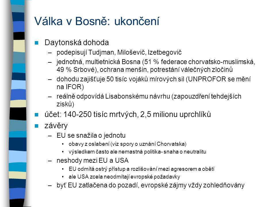 Válka v Bosně: ukončení