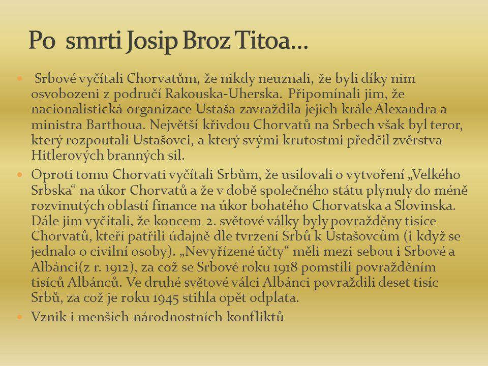 Po smrti Josip Broz Titoa…