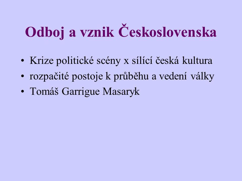 Odboj a vznik Československa