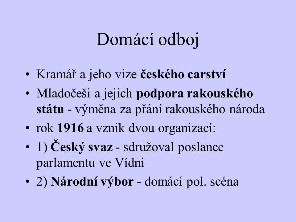 Domácí odboj Kramář a jeho vize českého carství