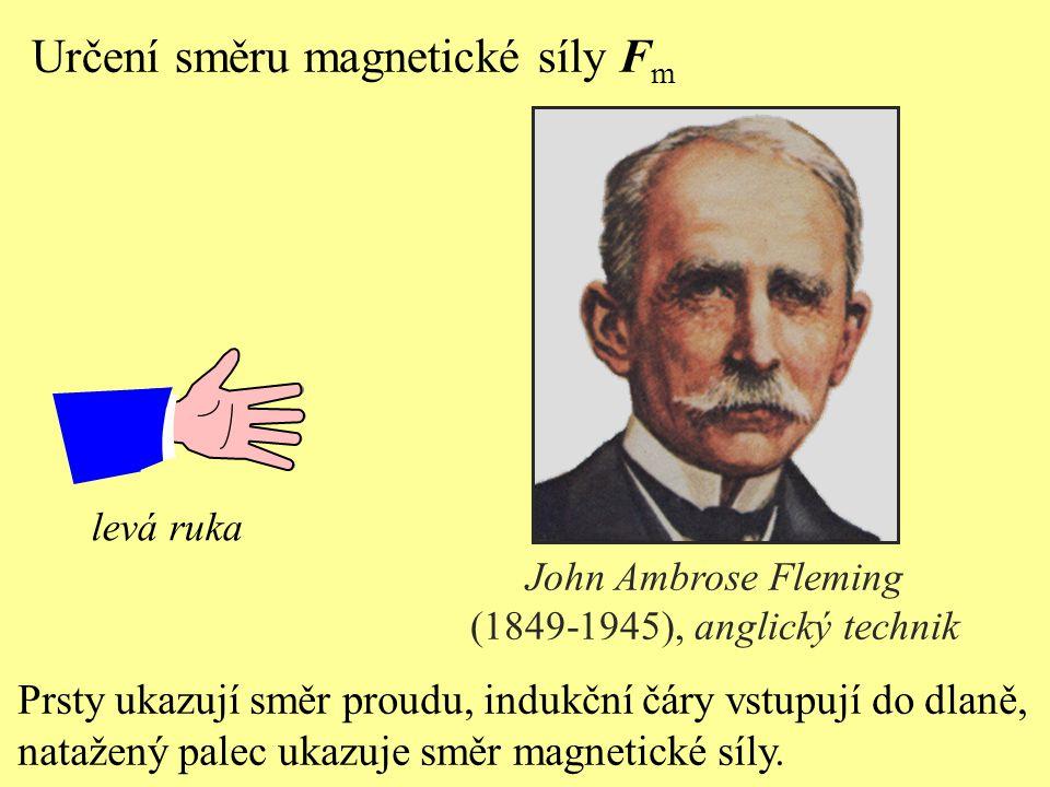 Určení směru magnetické síly Fm