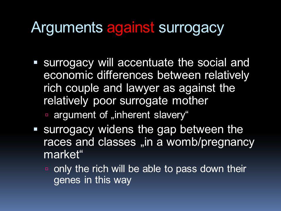 Arguments against surrogacy