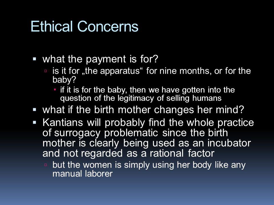 Ethical Concerns what the payment is for