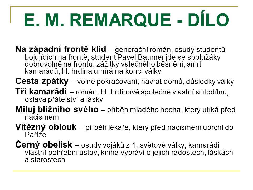 E. M. REMARQUE - DÍLO