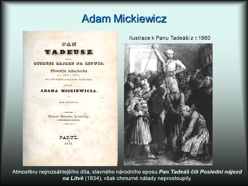 Adam Mickiewicz Ilustrace k Panu Tadeáši z r.1860