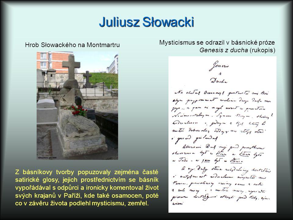 Juliusz Słowacki Mysticismus se odrazil v básnické próze