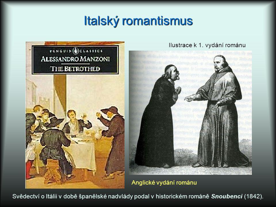 Italský romantismus Ilustrace k 1. vydání románu