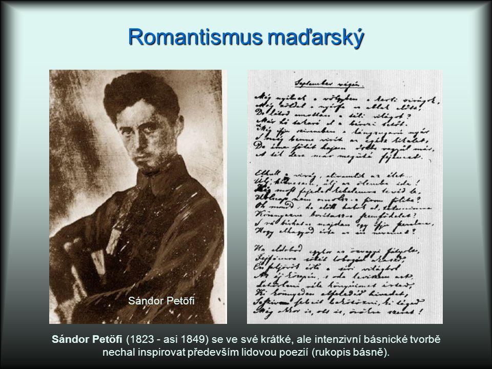 nechal inspirovat především lidovou poezií (rukopis básně).