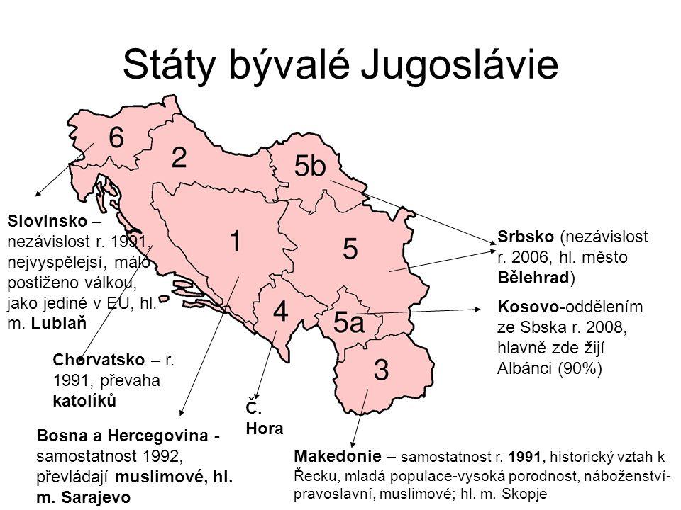 Státy bývalé Jugoslávie