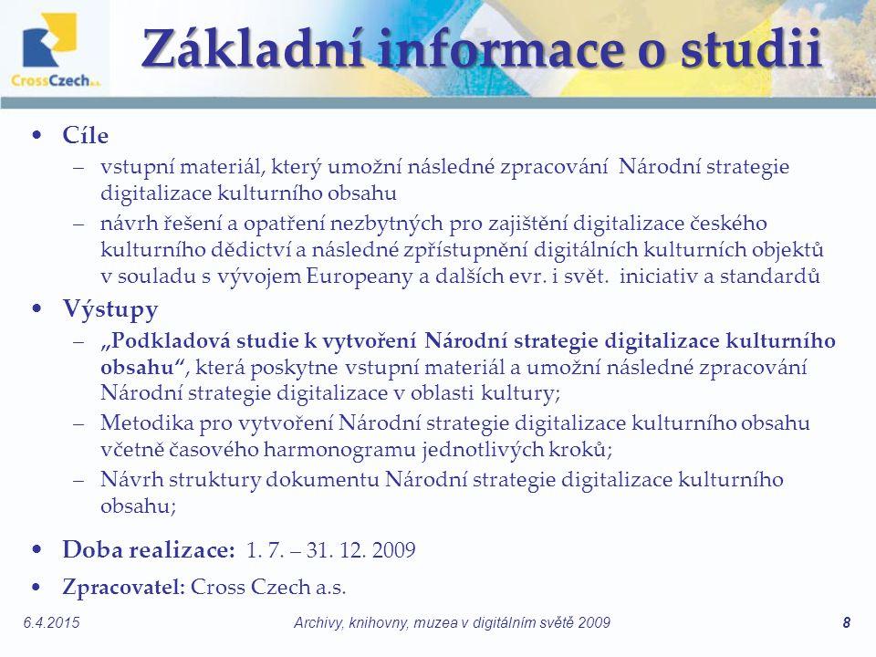 Základní informace o studii