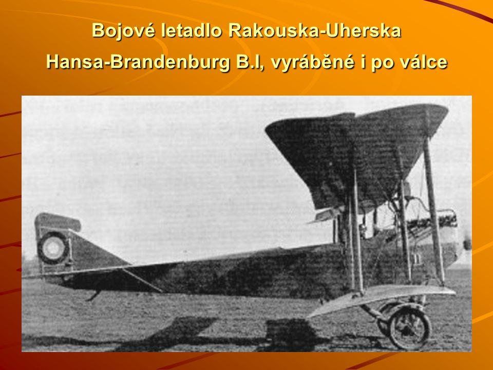 Bojové letadlo Rakouska-Uherska Hansa-Brandenburg B