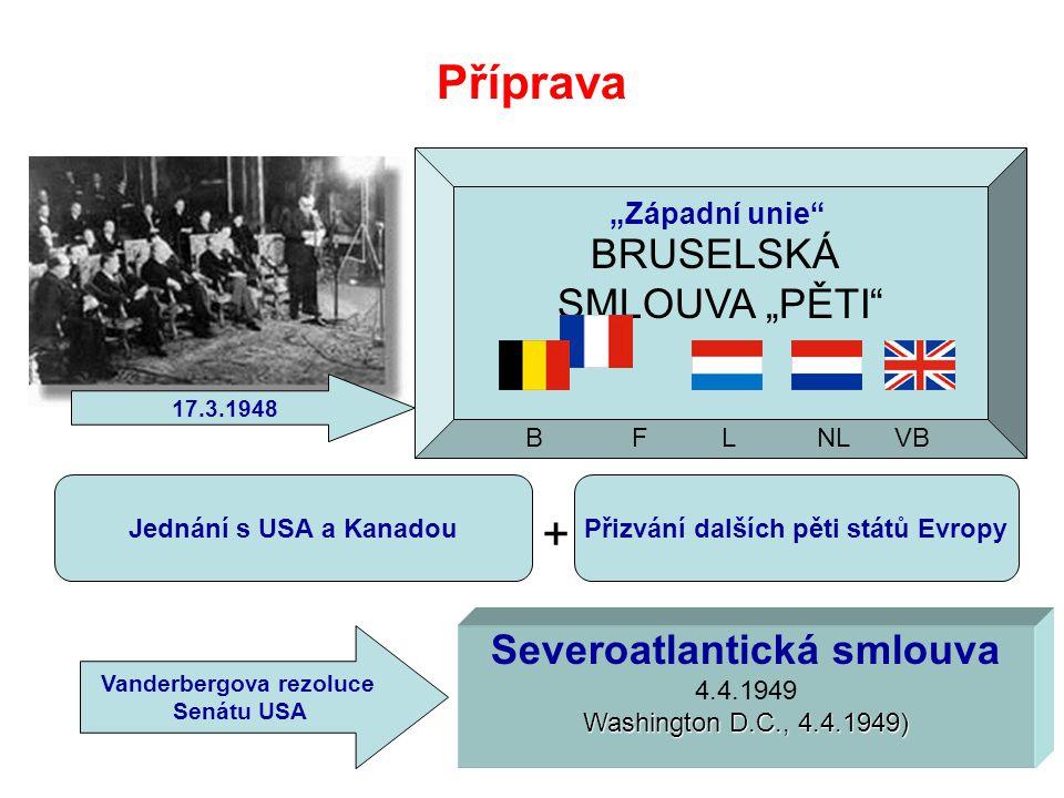 """Příprava BRUSELSKÁ SMLOUVA """"PĚTI Severoatlantická smlouva"""