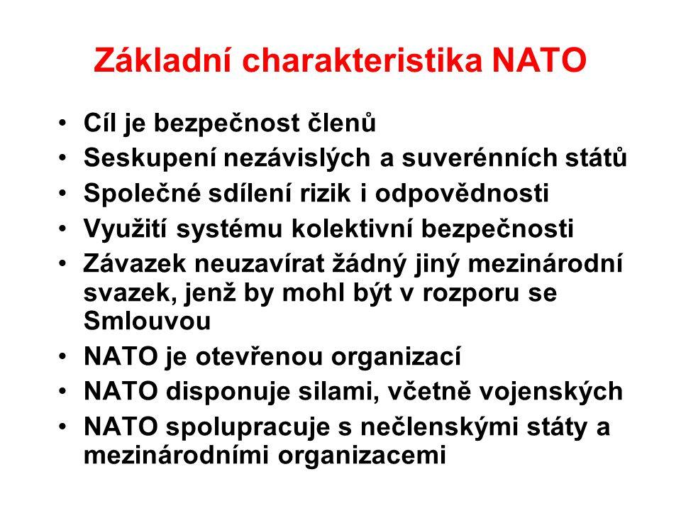 Základní charakteristika NATO