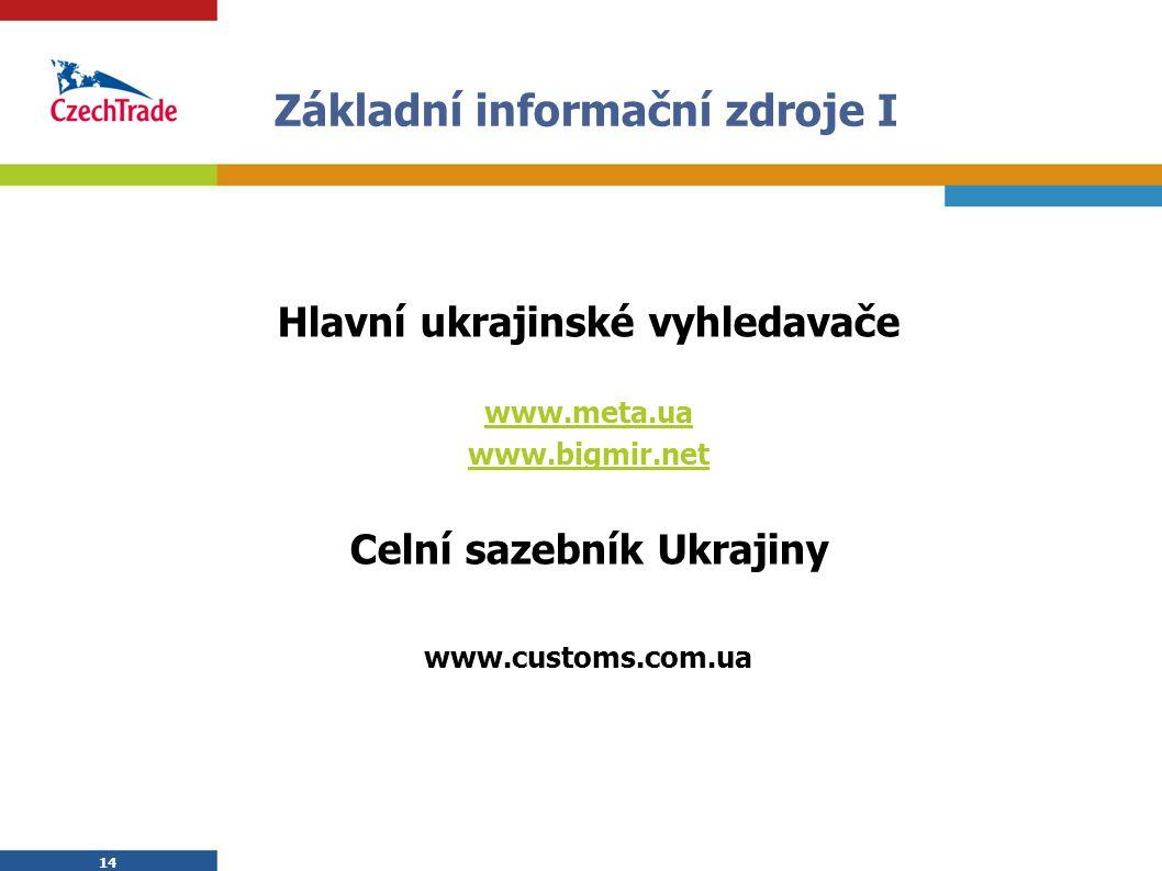 Základní informační zdroje I