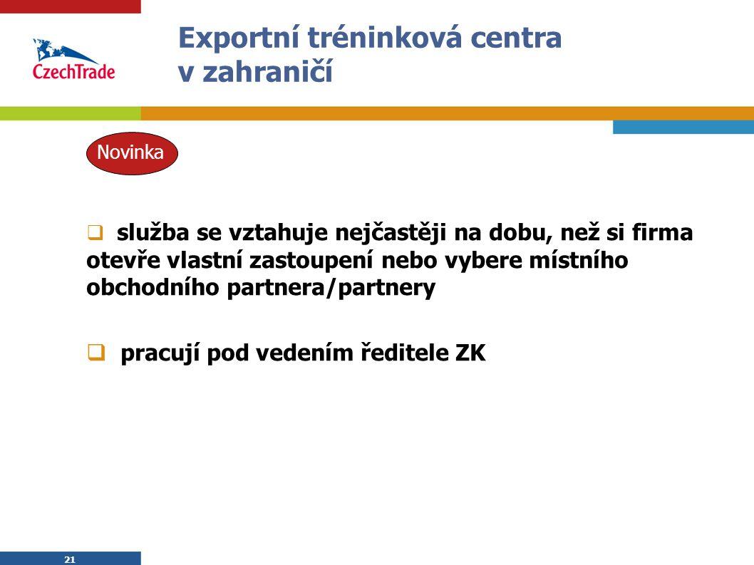 Exportní tréninková centra v zahraničí