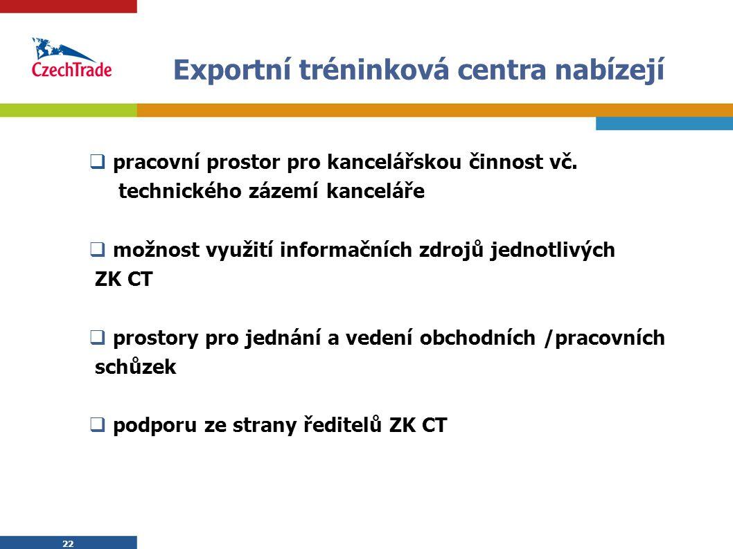 Exportní tréninková centra nabízejí