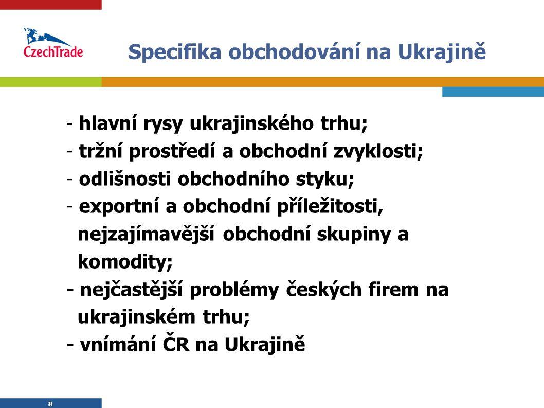 Specifika obchodování na Ukrajině