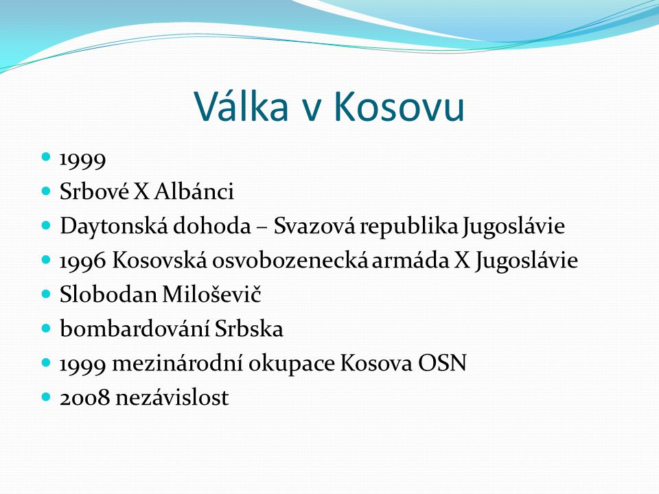 Válka v Kosovu 1999 Srbové X Albánci