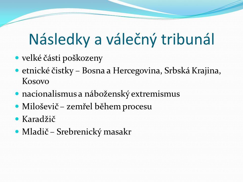 Následky a válečný tribunál