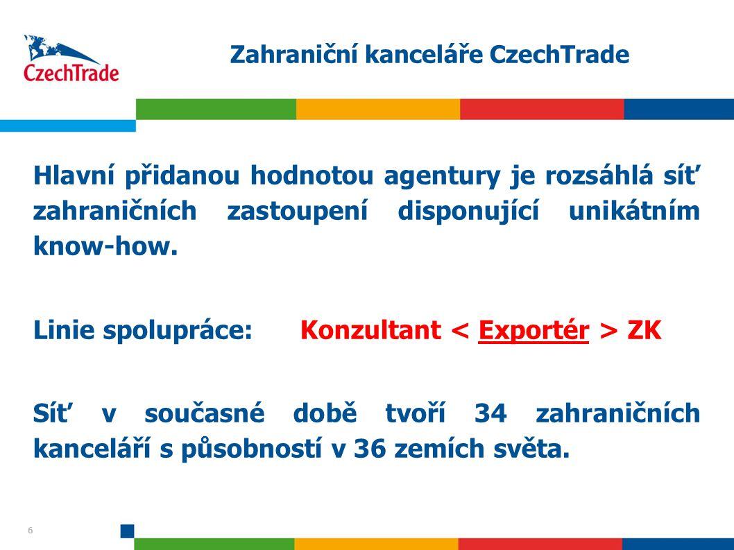 Zahraniční kanceláře CzechTrade