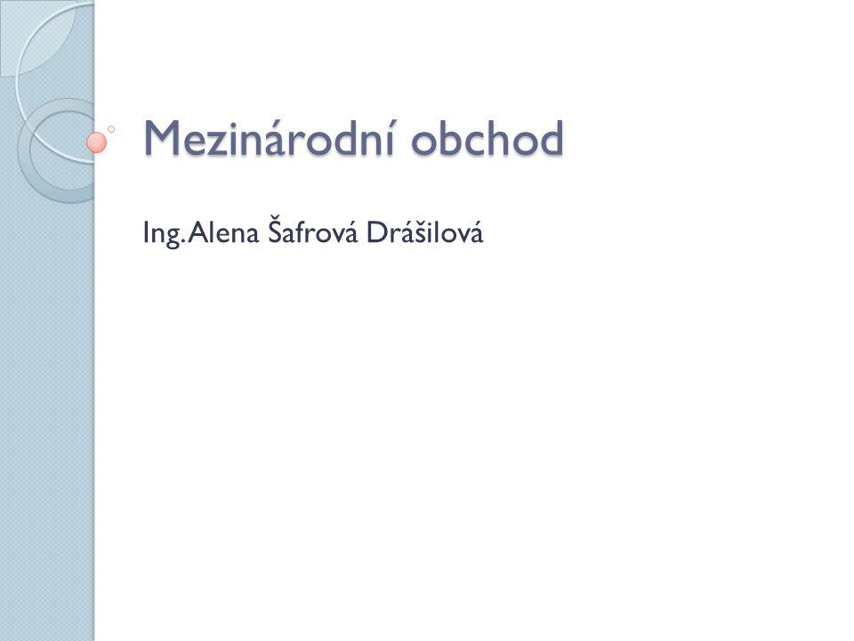 Ing. Alena Šafrová Drášilová