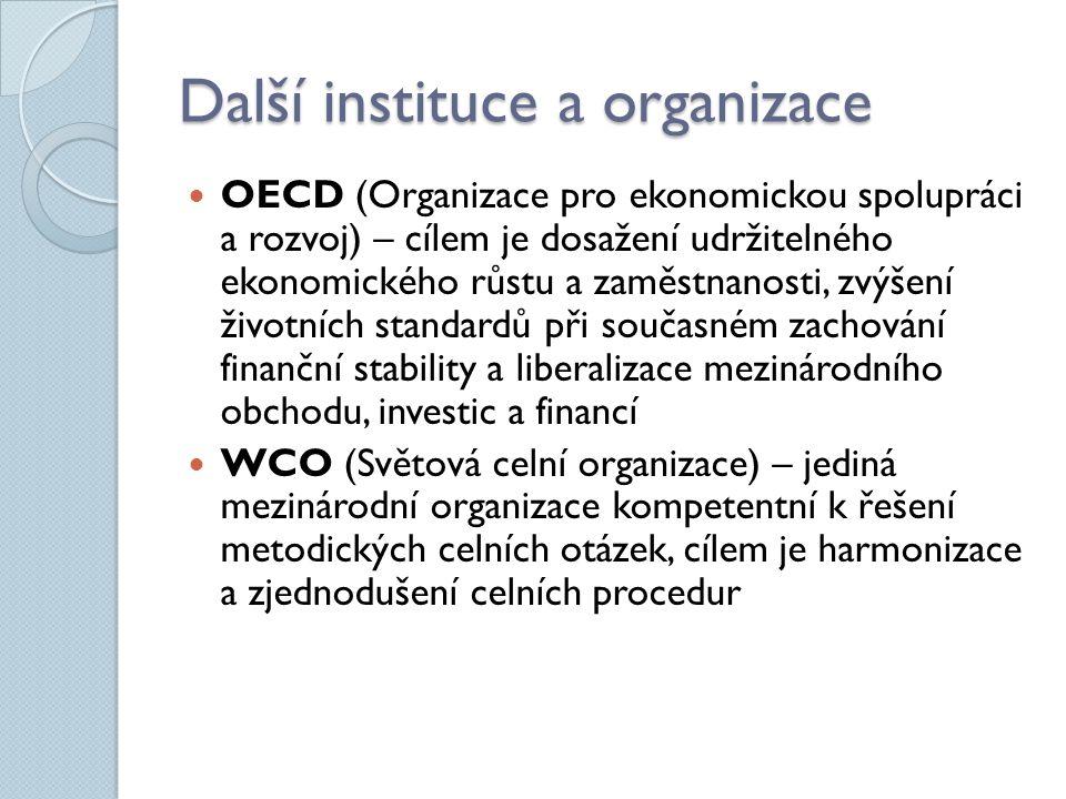Další instituce a organizace