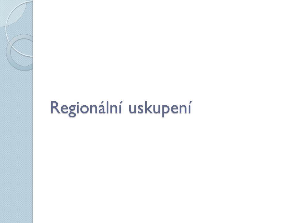 Regionální uskupení