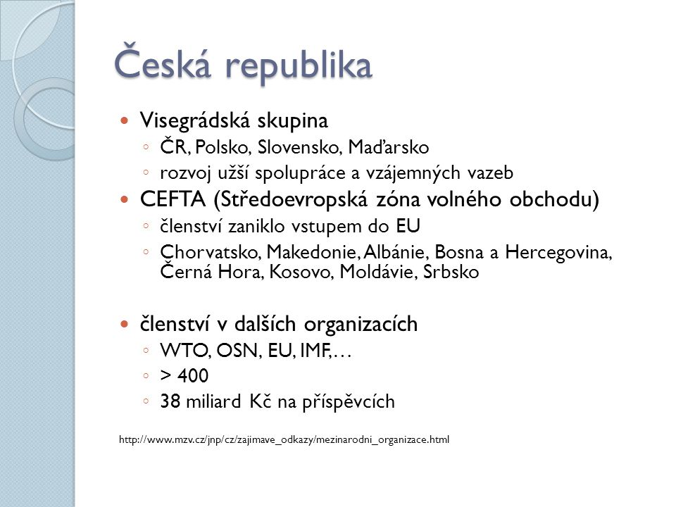 Česká republika Visegrádská skupina