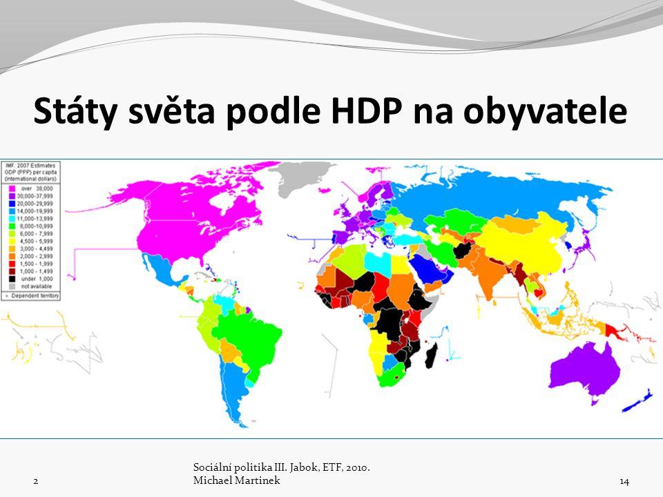 Státy světa podle HDP na obyvatele