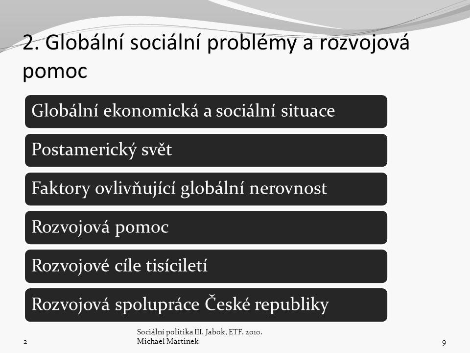 2. Globální sociální problémy a rozvojová pomoc