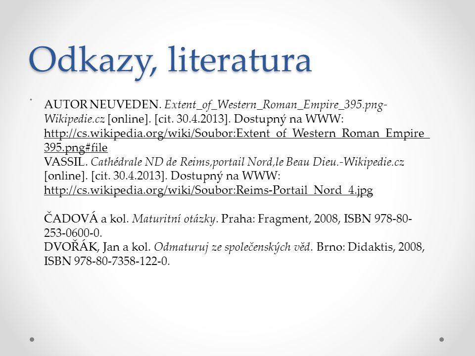 Odkazy, literatura .