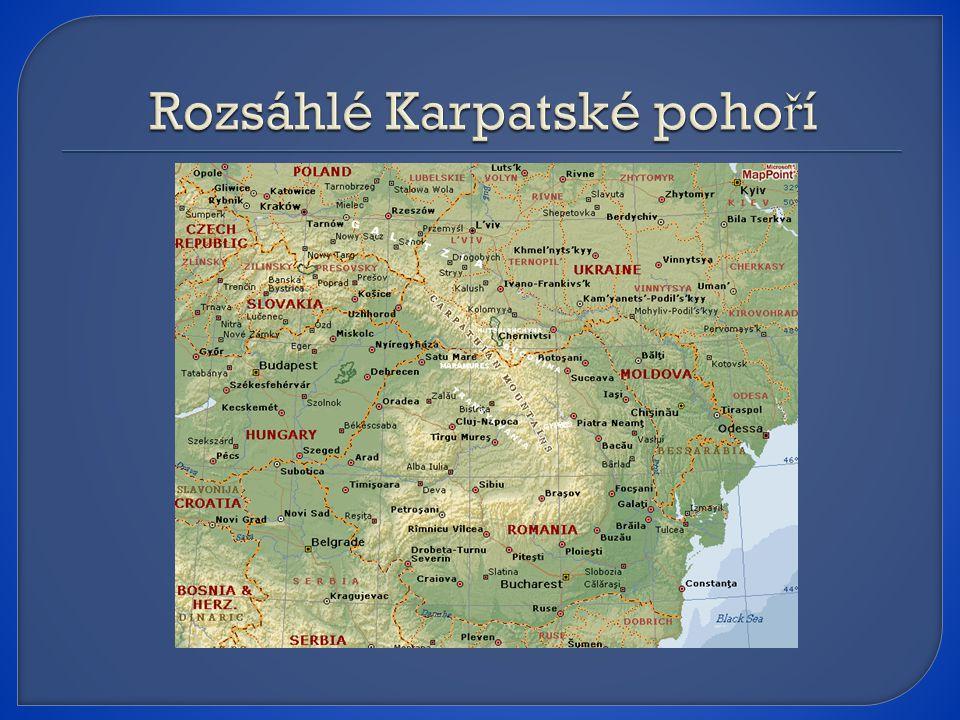 Rozsáhlé Karpatské pohoří