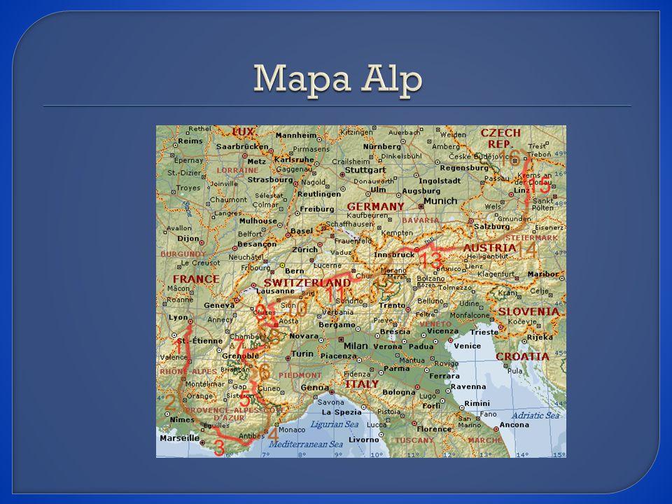 Mapa Alp