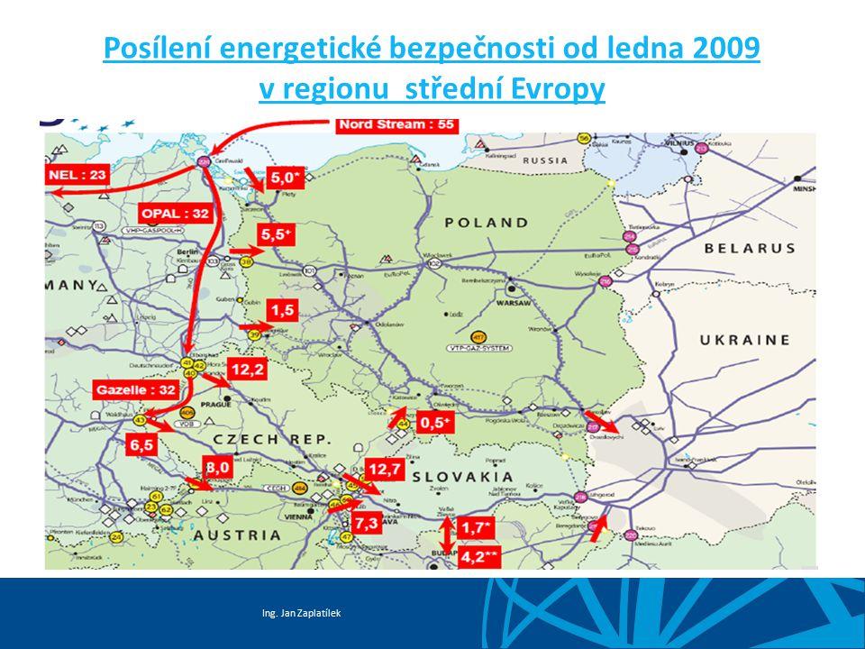 Posílení energetické bezpečnosti od ledna 2009 v regionu střední Evropy