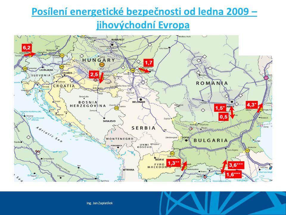 Posílení energetické bezpečnosti od ledna 2009 – jihovýchodní Evropa