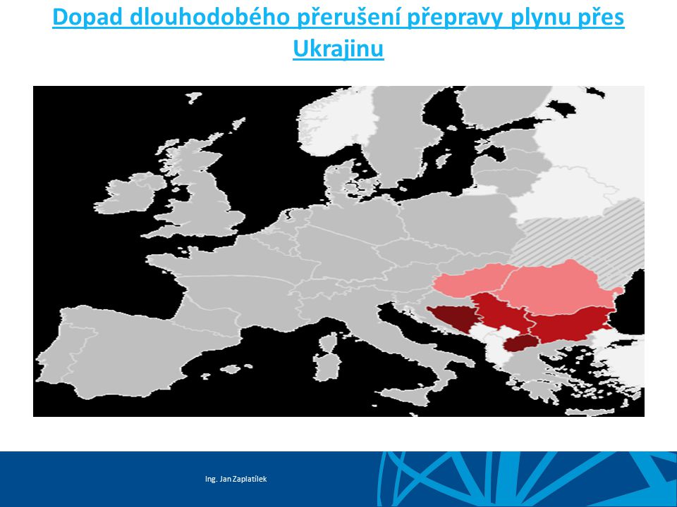 Dopad dlouhodobého přerušení přepravy plynu přes Ukrajinu