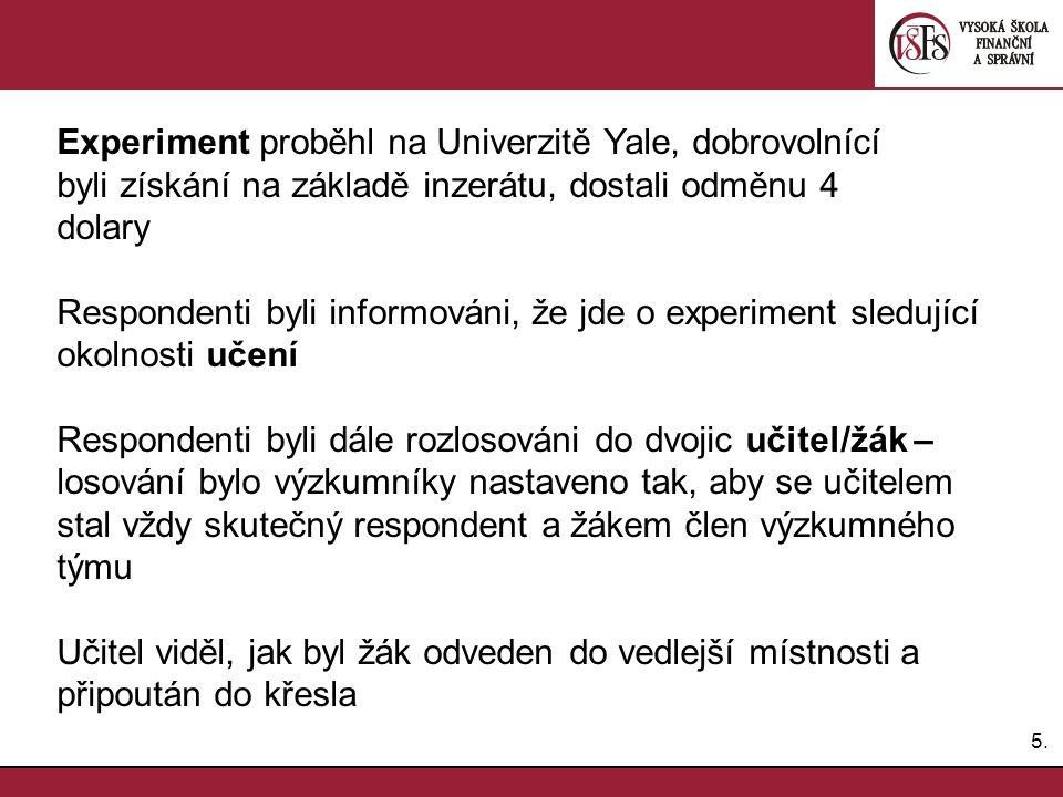 Experiment proběhl na Univerzitě Yale, dobrovolnící