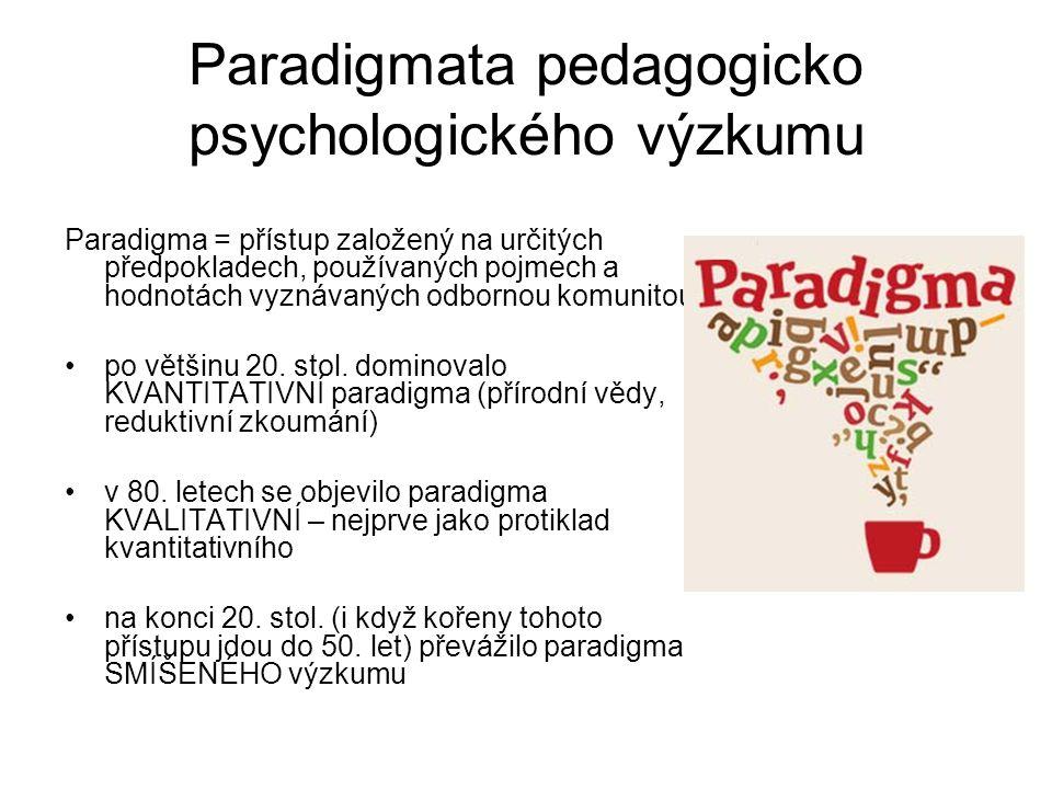 Paradigmata pedagogicko psychologického výzkumu