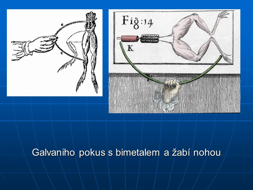 Galvaniho pokus s bimetalem a žabí nohou
