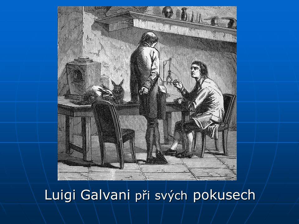 Luigi Galvani při svých pokusech